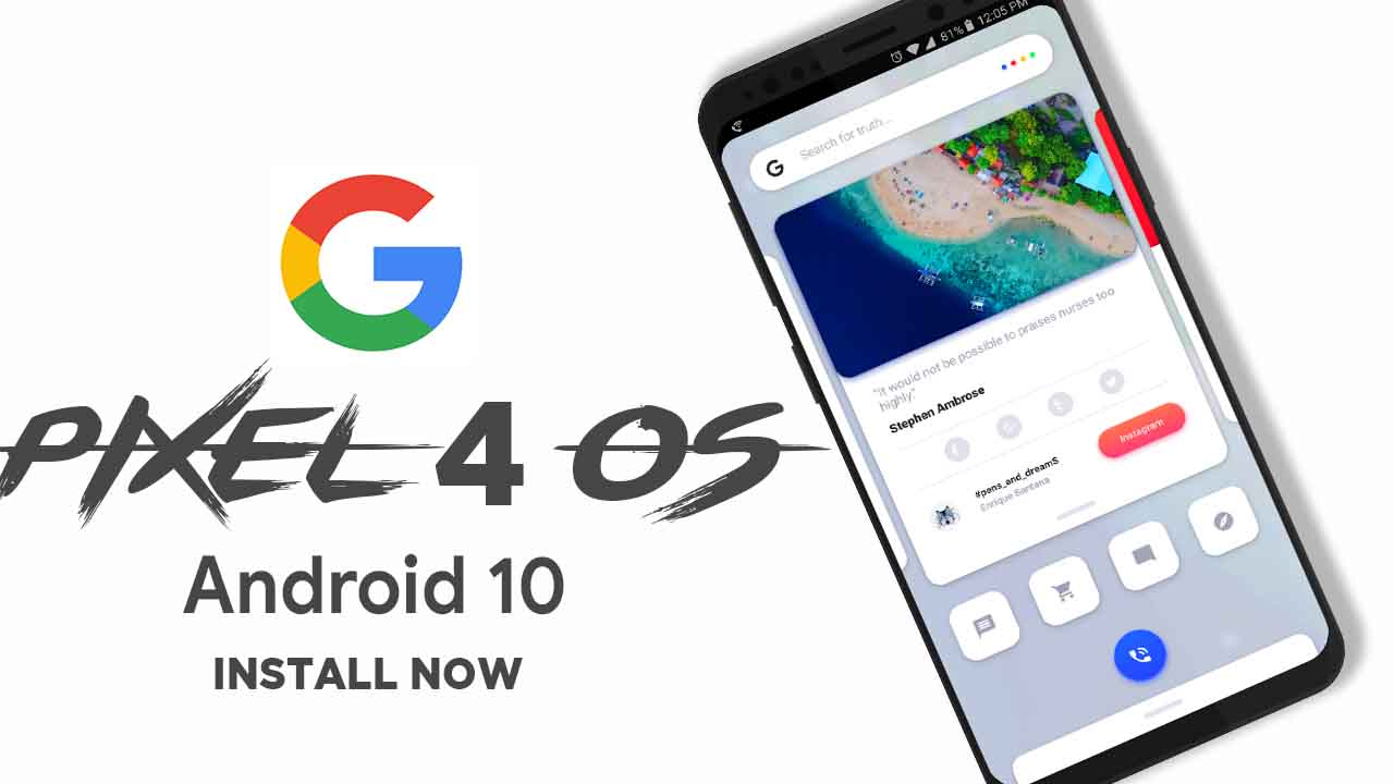 Image result for android 10 pixel 4